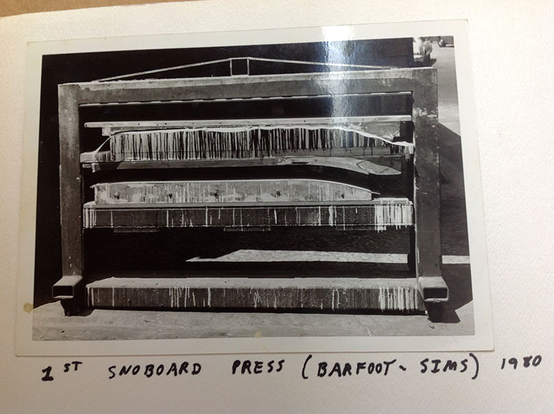 SIMS SKIBOARDS / BARFOOT SNOBOARDS (first snowboard press) 1980