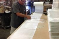 CB cutting fiberglass for RETRO SNOBOARDS!