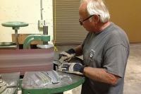 CB hand making aluminum fins!
