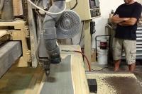 Ernie on CNC (Cutting out RETRO SNOBOARD)!