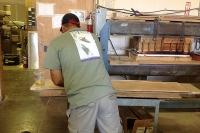 Laying up wood and fiberglass