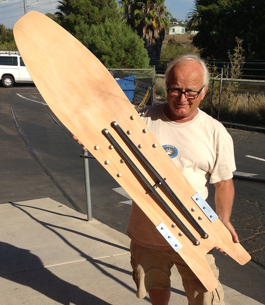 Chuck Barfoot with First Retro 1981 Snobard re-issue
